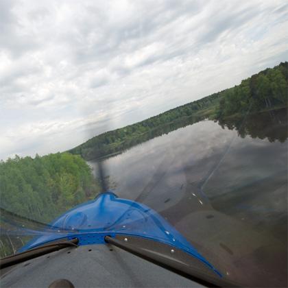 Можайское водохранилище: вид сверху