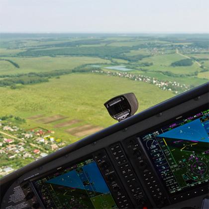 Обзорный полет - вид с места пилота