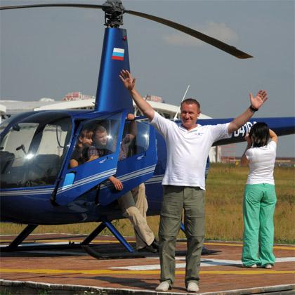 полетали на вертолете Robinson R44