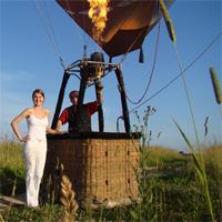 подарок любимой: полет на воздушном шаре