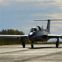 пилотаж на реактивном самолете Л-29 Дельфин