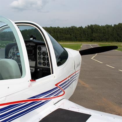 Кабина двухместного самолета Tecnam P2002
