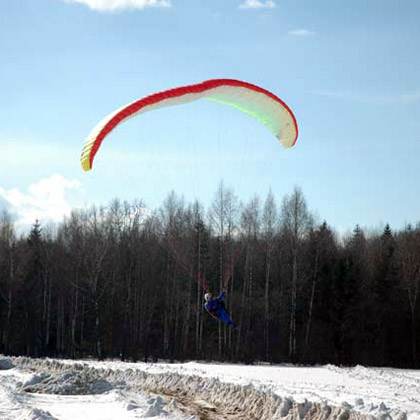 полеты на парапланах зимой